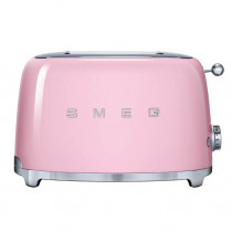 Smeg 50's Retro Style Pink Two Slice Toaster
