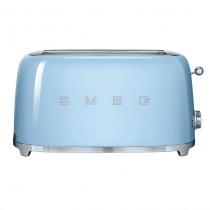 Smeg 50's Retro Style Pastel Blue Four Slice Toaster