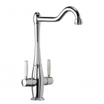 CDA Traditional Dual Lever Monobloc Chrome Tap TT50CH