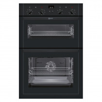 Neff U14M42S5GB Black Electric Integrated (Built-In) Double Oven