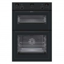 Neff U15E52S5GB Black Electric Integrated (Built-In) Double Oven