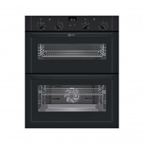 Neff U17M42S5GB Black Built-Under Double Oven