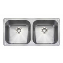 Rangemaster Atlantic Double Undermount Sink - UB4040