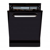 CDA 45cm Freestanding Intelligent Black Dishwasher WF610BL