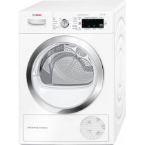 Bosch Serie 8 WTW87560GB Freestanding White Condenser Tumble Dryer