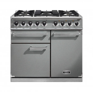 Falcon 1000 Deluxe Dual Fuel Stainless Steel Range Cooker with Matt Pan Supports