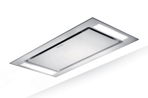 Faber Heaven Glass 2.0 Slim 90cm White Glass Ceiling Hood