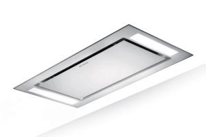 Faber Heaven Glass 2.0 Slim 120cm White Glass Ceiling Hood