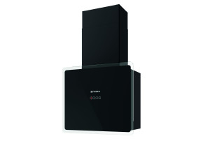 Faber Glam Fit 55cm Black Glass Wall Hood