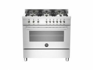 Bertazzoni Professional 90 Single Oven Dual Energy Stainless Steel Range Cooker PRO90-6-HYB-S-XT