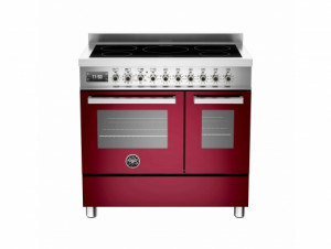 Bertazzoni Professional 90 Double Oven Induction Burgundy Range Cooker PRO90-5I-MFE-D-VIT