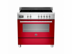 Bertazzoni Professional 90 Single Oven Induction Red Range Cooker PRO90-5I-MFE-S-ROT