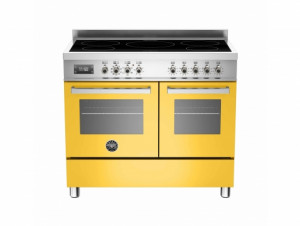 Bertazzoni Professional 100 Double Oven Induction Yellow Range Cooker PRO100-5I-MFE-D-GIT