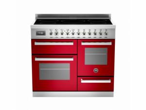 Bertazzoni Professional 100 Triple Cavity Induction Red Range Cooker PRO100-5I-MFE-T-ROT
