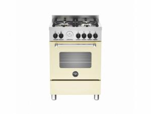 Bertazzoni Master 60 Single Oven Dual Fuel Matt Cream Range Cooker MAS60-4-MFE-S-CRE