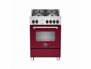 Bertazzoni Master 60 Single Oven Dual Fuel Matt Burgundy Range Cooker MAS60-4-MFE-S-VIE
