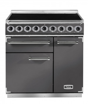 Falcon Deluxe 900 Induction Slate/Chrome Range Cooker
