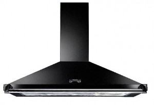 Rangemaster Classic 90cm Cooker Hood Black with Chrome Rail CLAHDC90BC/ 63050