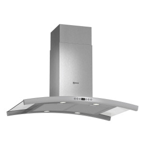 Neff 90cm Ceiling Mounted Island Chimney Hood Stainless Steel with Glass Canopy I89DK62N0B