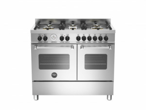 Bertazzoni Master 100 Double Oven Dual Fuel Stainless Steel Range Cooker MAS100-6-MFE-D-XE