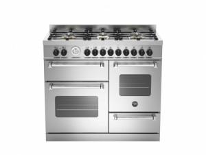 Bertazzoni Master 100 Triple Oven Dual Fuel Stainless Steel Range Cooker MAS100-6-MFE-T-XE