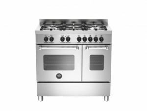 Bertazzoni Master 90 Double Oven Dual Fuel Stainless Steel Range Cooker MAS90-5-MFE-D-XE