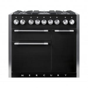 Mercury MCY1000DF Dual Fuel Ash Black Range Cooker