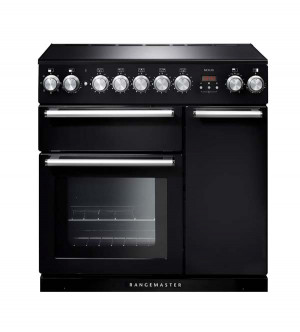 Rangemaster Nexus 90 Induction Black Range Cooker NEX90EIBL/C 104820