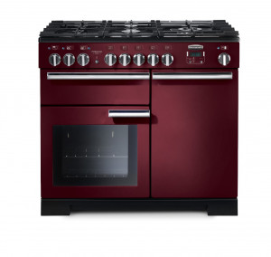 Rangemaster Professional Deluxe 100 Dual Fuel Cranberry Range Cooker PDL100DFFCY/C 97580