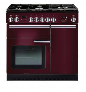 Rangemaster Professional Plus 90 Natural Gas Cranberry Range Cooker PROP90NGFCY/C 91940