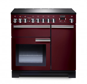 Rangemaster Professional Deluxe 90 Induction Cranberry Range Cooker PDL90EICY/C 97890