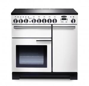 Rangemaster Professional Deluxe 90 Induction White Range Cooker PDL90EIWH/C 98740