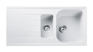 Rangemaster Amethyst Igneous AME1052 Crystal White Granite Sink 47090
