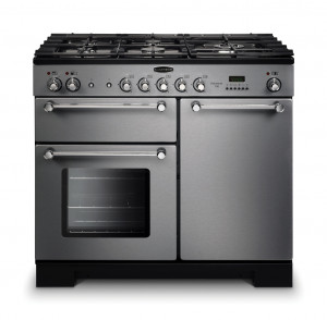 Rangemaster Kitchener 100 Dual Fuel Stainless Steel Range Cooker KCH100DFFSS/C 98780