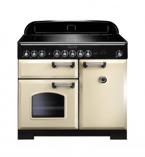 Rangemaster Classic Deluxe 100 Induction Cream/Chrome Trim Range Cooker CDL100EICR/C 95930