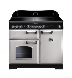 Rangemaster Classic Deluxe 100 Induction Royal Pearl/Chrome Trim Range Cooker CDL100EIRP/C 100640