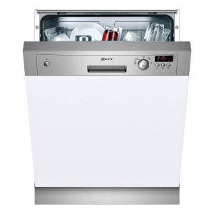 Neff N30 Semi-Integrated 60cm Dishwasher Stainless Steel S41E50N1GB