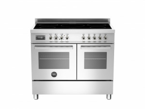 Bertazzoni Professional 100 Double Oven Induction Stainless Steel Range Cooker PRO100-5I-MFE-D-XT