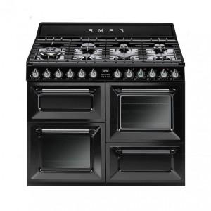 Smeg Victoria 110 Gloss Black Dual Fuel Range Cooker