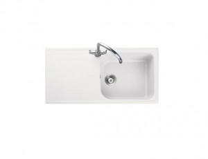 Rangemaster Amethyst Igneous AME1051CW Crystal White Sink