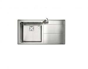 Rangemaster Arlington Single Bowl Stainless Steel Sink Right