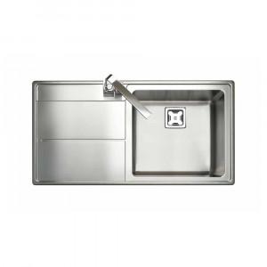 Rangemaster Arlington Single Bowl Stainless Steel Sink Left