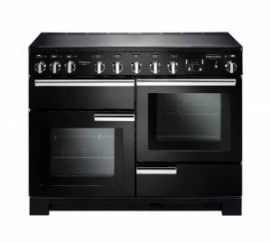 Rangemaster Professional Deluxe 110 Induction Black Range Cooker PDL110EIGB/C 101550