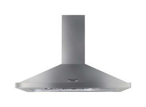 Rangemaster 90cm Chimney Cooker Hood Stainless Steel with Chrome Trim LEIHDC90SS/ 62260