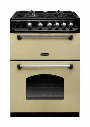 Rangemaster Classic 60 Gas Range Cooker Cream/Chrome Trim
