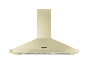Rangemaster 100cm Chimney Cooker Hood Cream with Chrome Trim LEIHDC100CR/C 44640