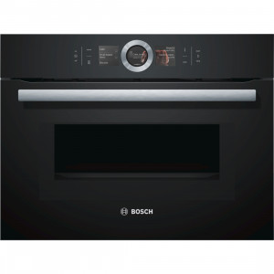 Bosch Serie 8 CMG656BB6B Black Compact Oven with Microwave