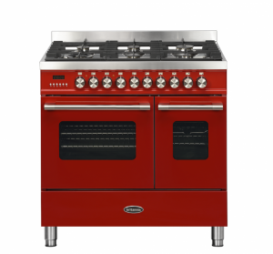 Britannia Delphi 90cm Dual Fuel Twin Oven Range Cooker Red RC-9TG-DE-RED  544440234