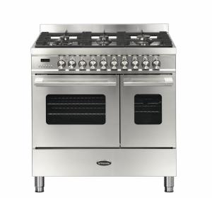 Britannia Delphi 90cm Dual Fuel Twin Oven Range Cooker Stainless Steel RC-9TG-DE-S  544440156