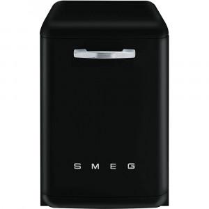 Smeg 60cm Black 50's Style Freestanding Dishwasher DF6FABBL